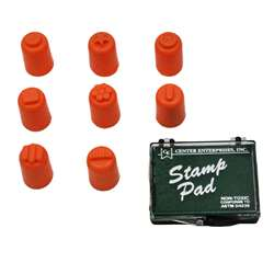 Finger Painters/Stampers Set Of 8 W/ Pad By Center Enterprises