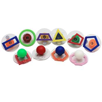 Ready2Learn Giant 10/Pk Outline Geometric Shapes By Center Enterprises