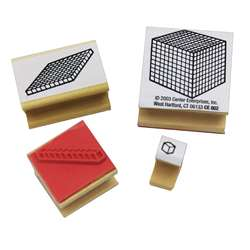 Stamp Set Base 10 Block 4-Pk 1 Each Unit Rod Flat Cube By Center Enterprises