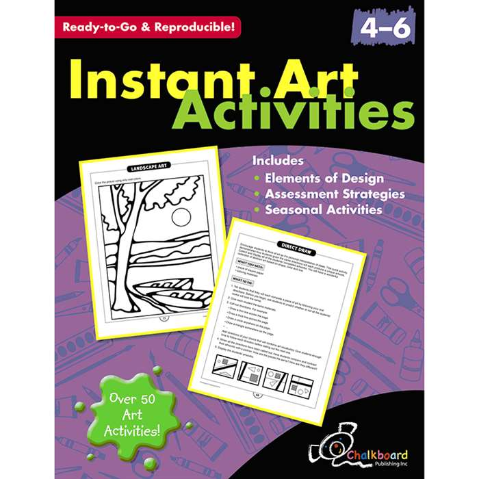 Instant Art Activities Gr 4-6 By Chalkboard Publishing
