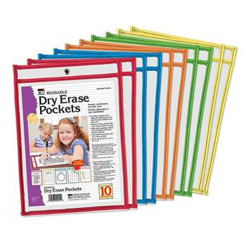 Reusable Dry Erase Pockets 10 Set, CHL29010