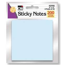 Sticky Notes Assorted Pastel 4 Pads, CHL33200