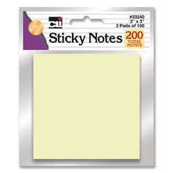 Sticky Notes Yellow 2 Pads, CHL33240