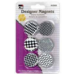 Designer Button Style Magnets 6 Pack, CHL35906