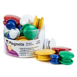 Magnets Round 30/Tub Assorted Sizes And Colors, CHL35930
