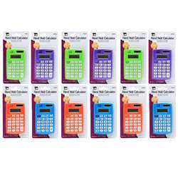 Primary Calculator 8 Digit Display (12 Ea), CHL39100BN