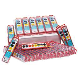8 Asst Water Color Paint Set 36/St Classpack, CHL40536