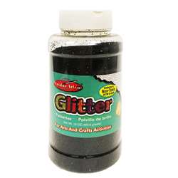 Creative Arts Glitter 1Lb Can Black, CHL41120