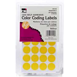 Color Coding Labels Yellow, CHL45140