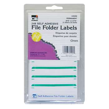 File Folder Labels Green, CHL45225