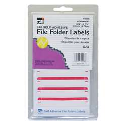 File Folder Labels Red, CHL45230