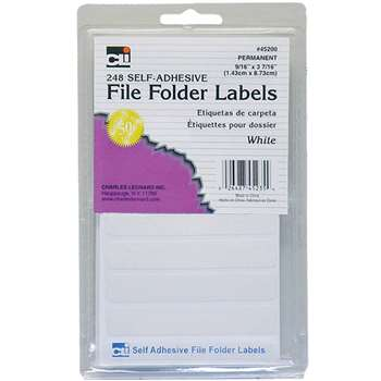 File Folder Labels White, CHL45235