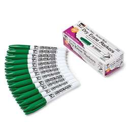 12Ct Green Bullet Tip Dry Erase Markers Pocket Sty, CHL47325