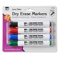 Dry Erase Markers Barrel Style 4Pk By Charles Leonard