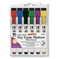 Magnetic Dry Erase Markers W Eraser, CHL47860