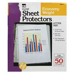 Top Loading Sheet Protectors Clear By Charles Leonard