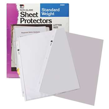 Sheet Protectors Non Glare 10/Box By Charles Leonard