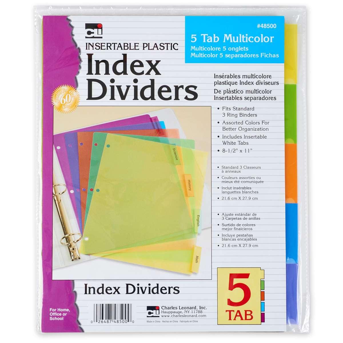 5 Tab Index Dividers