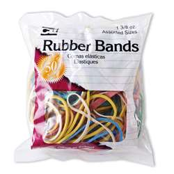 Rubber Bands Asst Colors 1 3/8 Oz Bag, CHL56385
