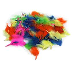 Turkey Feathers Hot Colors 14G Bag, CHL63030