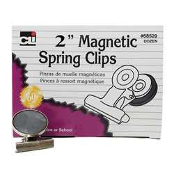 Magnetic Spring Clips Box-12 1 Each 2 Inch By Charles Leonard