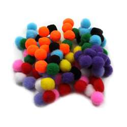 "Pom Poms 1.5"" Asst Colors 100Ct, CHL69100"