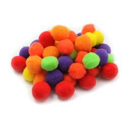 "Pom Poms 1"" Hot Colors 50Ct, CHL69516"