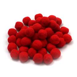 "Pom Poms 1"" Red 50Ct, CHL69530"