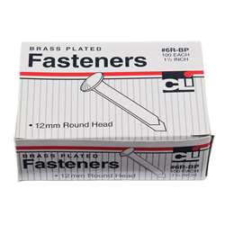 Brass Paper Fasteners 1 1/2 100/Box By Charles Leonard