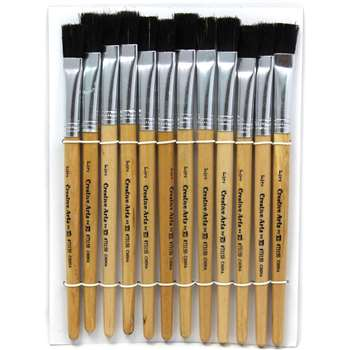 "Brushes Stubby Easel Flat 1/2"" Natural Bristle 12, CHL73150"