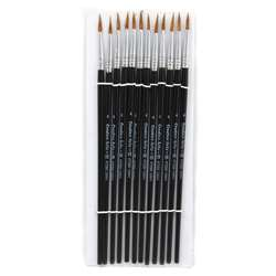 Brushes Water Color Pointed #4 9/16 Camel Hair 12 , CHL73504