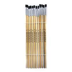 "Brushes Easel Flat 1/4"" Bristle 12Ct, CHL73525"