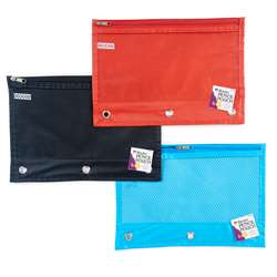 Pencil Pouch 1 Pocket 24St Assorted Colors Mesh Fr, CHL76330ST