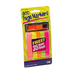 Page Markers 500 with 35 Note Flags 12/Shelf Tray, CHL76780ST
