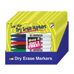 12 Pks Of 5 Pocket Dry Erase Marker Low Odor, CHL76840ST