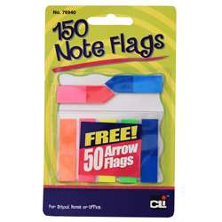 "Note Flags Pack Of 30 "" 5 Colors, CHL76940ST"