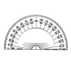 "Charles Leonard CHL80965ST Compass Safety and 6/"" Swing Arm Protractor Colors ..."