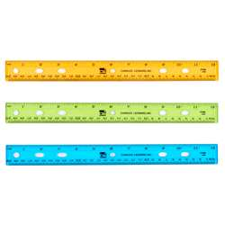 "Translucent 12"" Plastic Ruler Asst Colors, CHL77336"