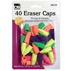 Pencil Eraser Caps Assorted Colors, CHL80740