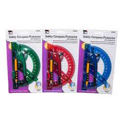 "12 Compass 6"" Swing Arm Protractor Assorted Color, CHL80965ST"