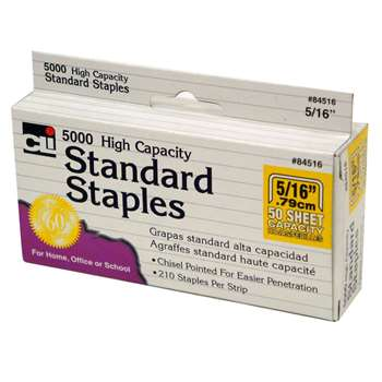 High Capacity Standard Staples 5000 Per Box By Charles Leonard