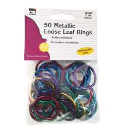 Assorted Color Metallic Book Rings Sitter Seat Hei, CHL85000