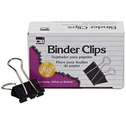 Binder Clips 1 1/4 Wide Medium By Charles Leonard