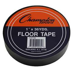 Floor Marking Tape Black By Champion Sports
