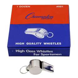 Metal Whistle Set Of 12 By Champion Sports
