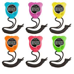Stop Watch 6Pk Neon Colors, CHS910NSET
