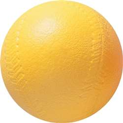 "9"" Yellow Coated Foam Baseball High Density, CHSBB3"