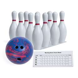 Plastic Bowling Pin Set By Champion Sports