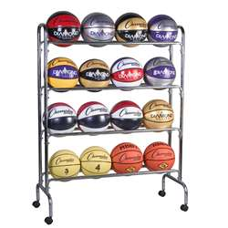 Portable Ball Rack 4 Tier Holds 16 Balls By Champion Sports