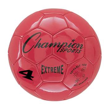 Soccer Ball Size4 Composite Red, CHSEX4RD
